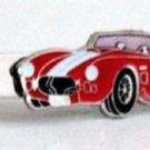 Shelby Cobra Red Car Silver Color Tie Clip