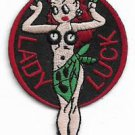USAF Nose Art Military Lady Luck Patch