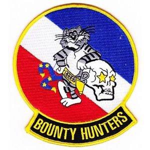 US Navy VF-2 F-14 Tomcat Bounty Hunter Patch