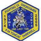 US Navy VF-32 Fighter Squadron Fighting 32 SWORDSMEN Patch