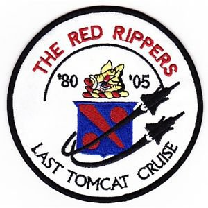US Navy VF-11 US Aviation Fighter Squadron Patch THE RED RIPPERS LAST TOMCAT