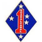 USMC 1st Marine Division Guadalcanal Pin