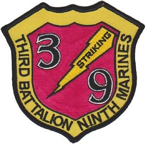 USMC 3rd Battalion 9th Marines Patch
