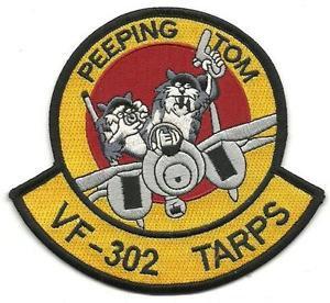 US Navy F-14 Peeping Tom VF-302 Tarps Tomcat Patch