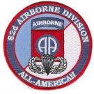 US Army 82nd Airborne Division Patch with Wings Patch