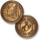 USMC Marine Marksmen at Sea Challenge Coin