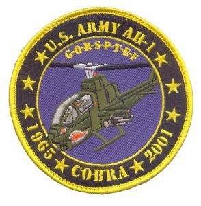 US Army AH-1 Cobra  Commemrative Patch without vel