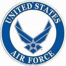 United States U.S. Air Force Emblem Embossed Metal Sign