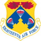 USAF Eighteenth Air Force (18 AF) Air Mobility Command (AMC) Patch
