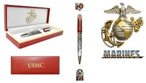 """USMC Officially Licensed United States Marine Corps Pen with Gift Box 8"""""""