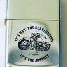 Biker Motorcycle It's Not The Destination It's the Journey Lighter