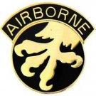 Polished Chrome US Army Phantom Airborne Division Emblem Black Lighter