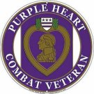 United States Purple Heart Embossed Metal Sign