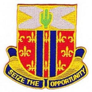 US Army 123rd Cavalry Regiment military patch - SEIZE THE OPPORTUNITY
