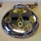 Masonic Pocket Watch- Gold/Silver Two Tone Finish
