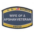 "U.S. Navy Seabee Wife of a Afghanistan Veteran patch - ""PROUD"""