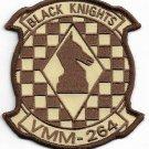 USMC VMM-264 Black Knights Marine Medium Tiltrotor Squadron 264 Desert Patch