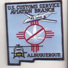 Legacy US Customs Albuquerque Air Branch Patch Vel Backing novelty item