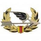 "US Army Vietnam Ranger Beret De Oppresso Liber Silver Badge Pin 2-1/4"""