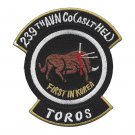 US Army 239th Aviation Company Assault Helicopter Patch FIRST IN KOREA TOROS