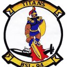US Navy  HSL-94 Helicopter Anti-Submarine Squadron Light Patch TITANS