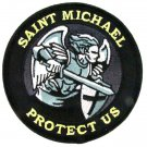 Saint Michael PROTECT US Gray Patch With Vel Backing