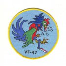 US Navy VF-47 Vertical Fighter Squadron Forty Seven Military Patch Rooster