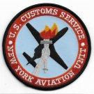 US Customs Service New York Aviation Unit Patch Vel Backing novelty item
