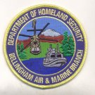 US Customs Department Homeland Security Bellingham Air & Marine Patch novelty