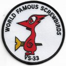 US Navy Sea Control Squadron THIRTY THREE [VS-33] Patch