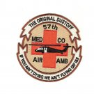 US Army 57th Medical Company Air Ambulance Dustoff Helicopter Patch