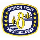 US Navy DESRON 8 DESTROYER SQUADRON PATCH COUNT ON US Patch