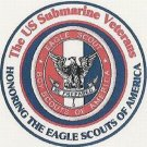 U.S. Submarine Veterans Inc. Honoring The Eagle Scouts of America Patch