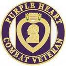 United States Purple Heart Combat Veteran Pin