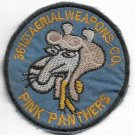 US Army 361st Aerial Weapons Company Vintage Vietnam War Patch Pink Panthers