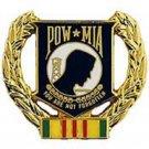 """POW*MIA WREATH VIETNAM (1-1/8"""") Pin"""