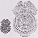 US Army MP Metal badge and  pin set