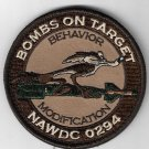 Bombs On Target Behavior Modification NAWDC 0294 Patch novelty item