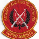US Army Security Element NAM PHONG Super Grunts Vintage Vietnam Patch