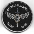 Barres N Blades House Of Six Patch Vel Backing