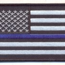 Thin Blue Line Police American Flag Tactical SWAT Morale Hornor Patch & Pin Set