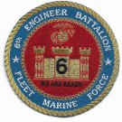 USMC 6th Engineer Battalion Fleet Marine Force Military Patch