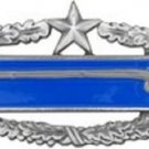 US Army CIB 2nd Award Regulation Size Badge Large Pin ANTIQUE SILVER