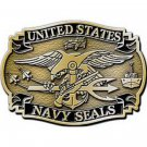 United States American Navy SEALS Belt Buckle