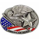 United States American BRONZE STAR USA Belt Buckle