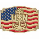 United States American Navy Anchor Belt Buckle