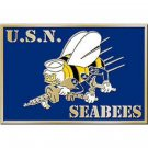 United States American Navy SEABEES Belt Buckle