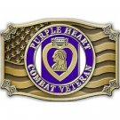 United States American PURPLE HEART,VETERAN Belt Buckle