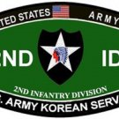 US Army 2nd Infantry Division Korean Service MOS Patch