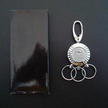OPEL POLISHED STEEL KEY RINGS ON KEY RING DESIGN